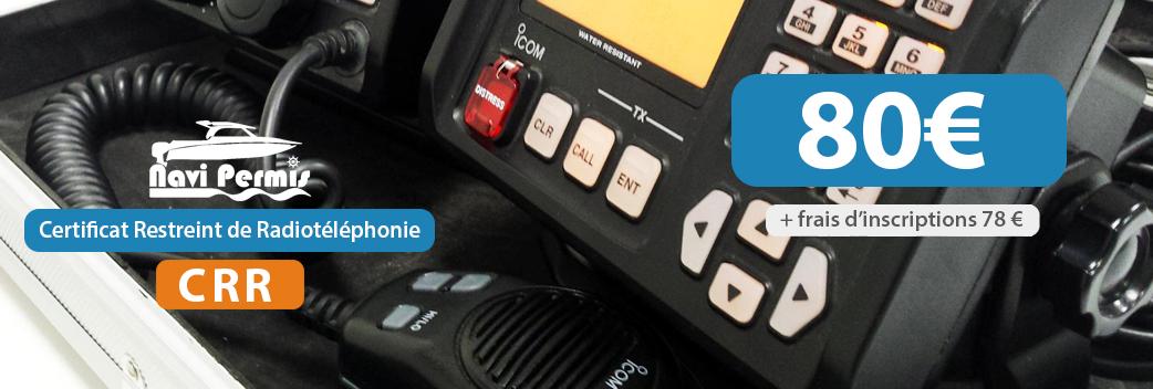 tarif permis CRR certificat restreint radiotelephonie navi permis